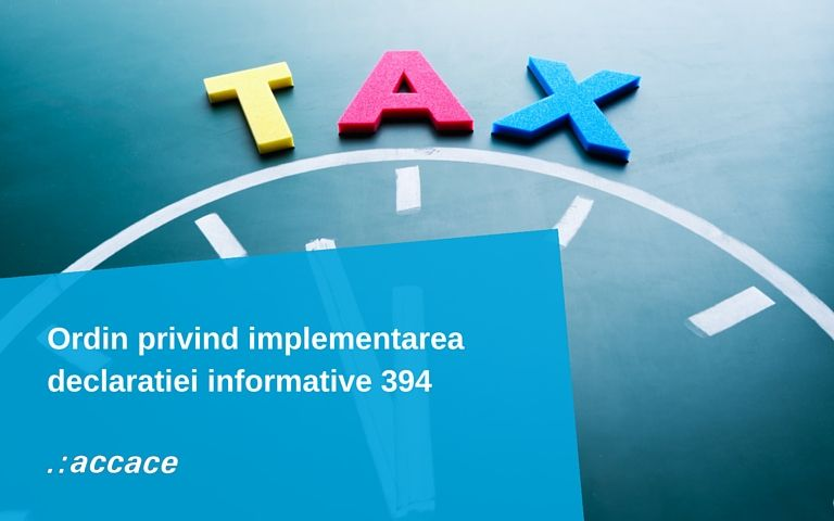 Modificari privind implementarea declaratiei informative 394 | News Flash